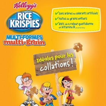 kelloggs 1 350x350 - Coupon rabais caché de 1$ sur le nouveau Rice Krispies Multi-Formes Multi-Grain!