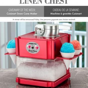 machine granite 350x350 - Concours Linen Chest: Gagnez une machine à granités Cuisinart