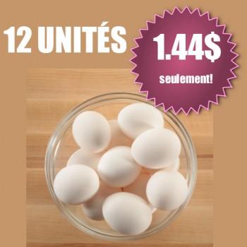 oeufs face 350x350 - Emballage de 12 œufs (gros calibre) à 1,44$! (sans coupon)