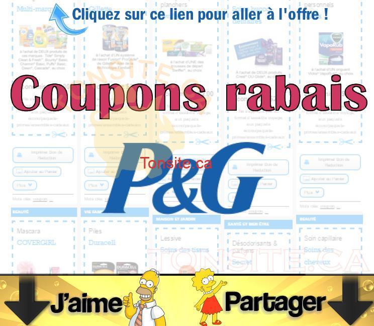 pg coupons jpg - Coupons rabais P&G