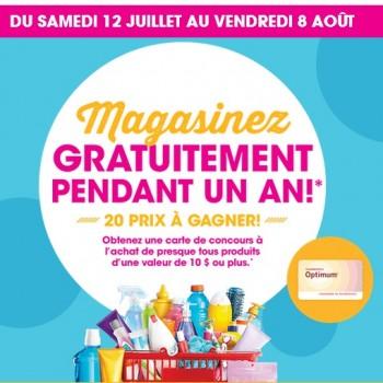pharmaprix concours 350x350 - Concours Pharmaprix: Magasinez gratuitement pendant un an!