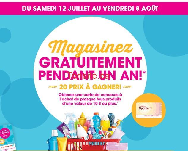 pharmaprix concours - Concours Pharmaprix: Magasinez gratuitement pendant un an!