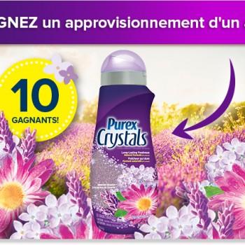 purex crystals 350x350 - Concours Purex: Gagnez 1 des 10 approvisionnements d'un an de Purex Crystals!