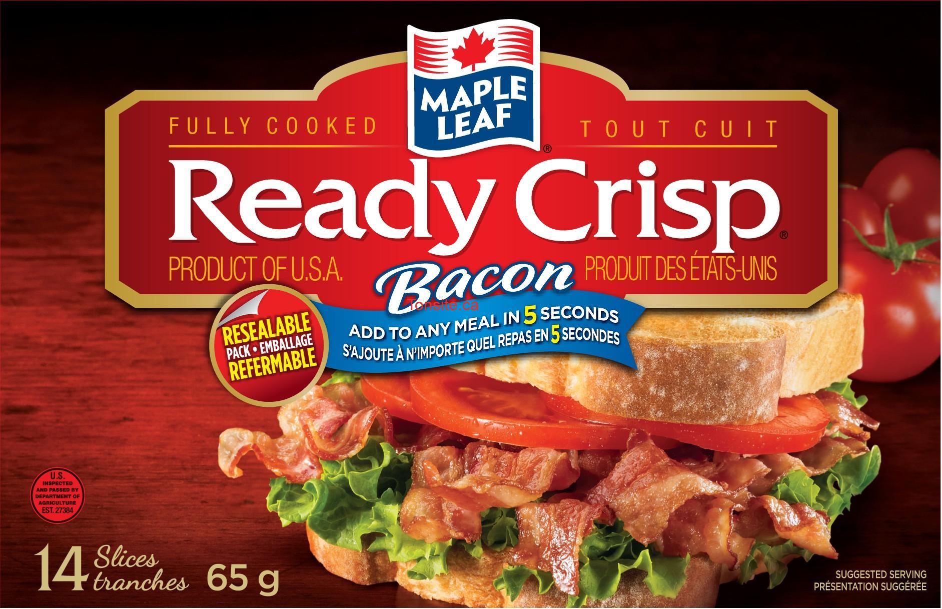 ready crisp md de maple leaf 610 - Coupon rabais de 1,50$ sur n'importe quel emballage de Ready Crisp de Maple Leaf