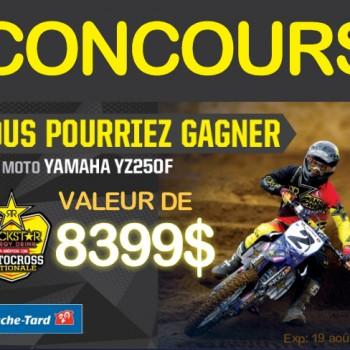 rockstar concours 350x350 - Concours ROCKSTAR ET COUCHE-TARD : Gagnez un Moto Yamaha (valeur de 8399$)