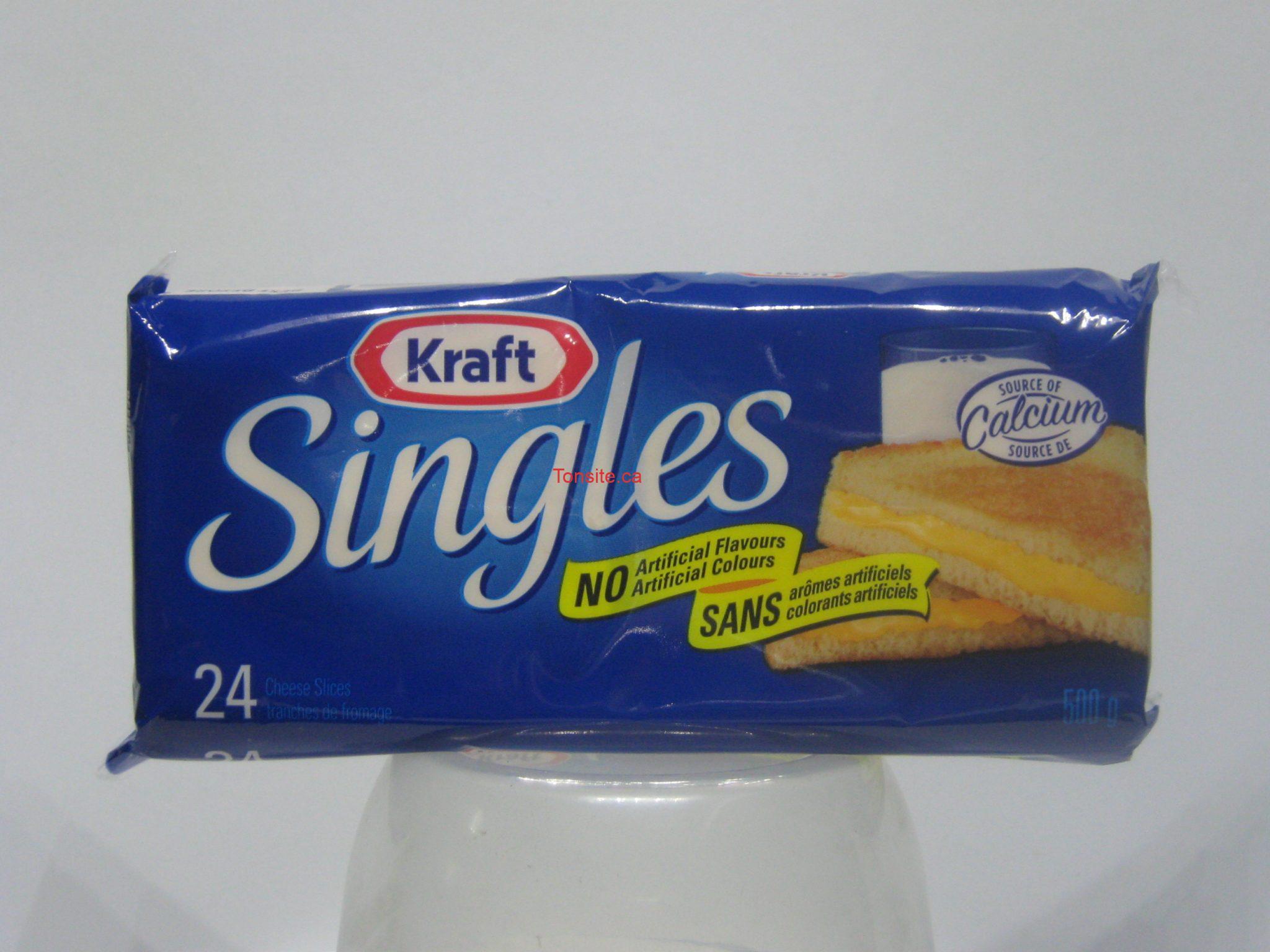 singles - Fromage en tranches Singles de Kraft à 1,72$ après coupon!