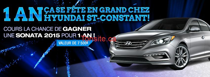 Photo of Concours Hyundai St-Constant: Gagnez la toute nouvelle Sonata 2015 pour 1 an!
