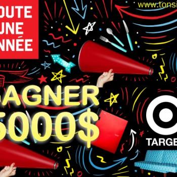 target concours 350x350 - Concours Target: Gagnez une virée de magasinage d'une valeur de 5000$ chez Target!