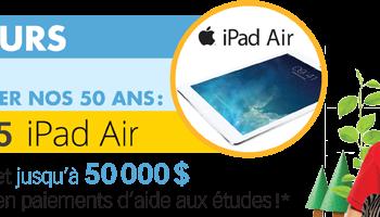 universitas 350x200 - Concours Universitas: Gagnez 1 des 5 iPad Air et plus!