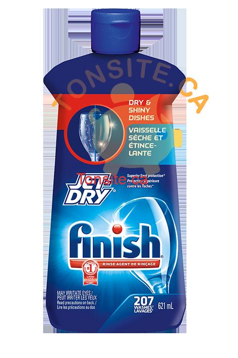 Jet Dry - Agent de rinçage pour lave-vaisselle  Jet Dry de Finish (250ml) à 2.49$