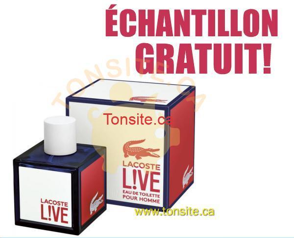 LACOSTE ECHANTILLON GRATUIT - Échantillon gratuit du nouveau parfum Lacoste Live!