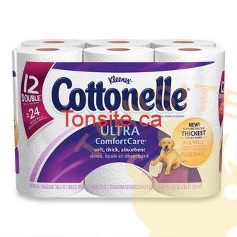cottonelle - 12 rouleaux doubles du papier hygiénique Cottonelle à 1.99$ après coupon!
