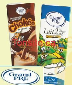 grand leit 237x280 1 - Lait Grand Pré ou Chokéo (3 x 200ml) à 1.25$ après coupon!