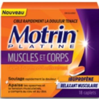 motrin 350x350 - Coupon rabais de 4,50$ sur un produit Motrin Platine Muscles et corps
