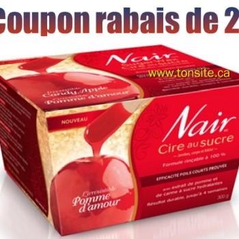 nairrrr 350x350 - Coupon rabais caché de 2$ sur la cire au sucre L'irrésistible pomme d'amour de Nair