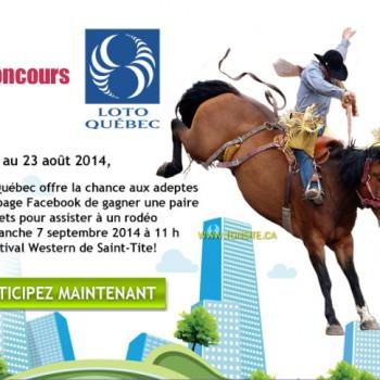 rodeosttite 350x350 - Concours Loto Quebec: Gagnez une paire de billets pour assister à un rodéo au festival Western de Saint-Tite