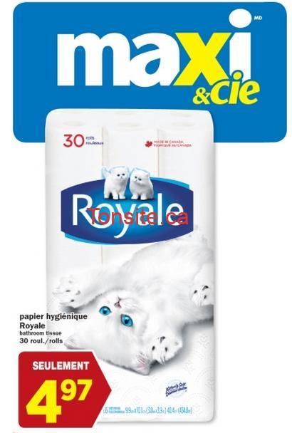 royale rouleaux promotion - 30 rouleaux du papier hygiénique Royale à 3.97$ après coupon!