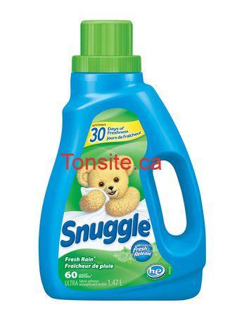 snugles - Assouplisseur Snuggle (60 brassées) à 2.49$ après coupon! (Prix rég: 6.18$)