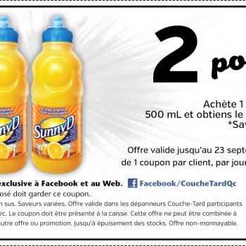 53f3a28de05ec 350x350 - Coupon rabais B1G1 (Achetez 1 et obtenez en 1 gratuitement) sur une boisson SannyD (500ml)