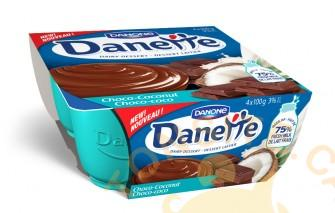 Danette 4X100g - Dessert laitier Danette (4x100g) à 1,65$ après coupon