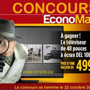 Economax concours 350x350 - Concours Economax: Gagnez un téléviseur de 48 pources à écran DEL 1080p (valeur de 499$)