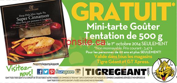 GOUTER TENTATION - GRATUIT: Mini-tarte Goûter Tentation de 500g GRATUITE