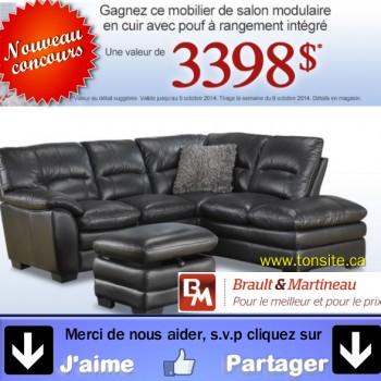 braultmartineau concours jpg 350x350 - Concours Brault & Martineau: Gagnez un mobilier de salon en cuir avec pouf (valeur de 3398$)