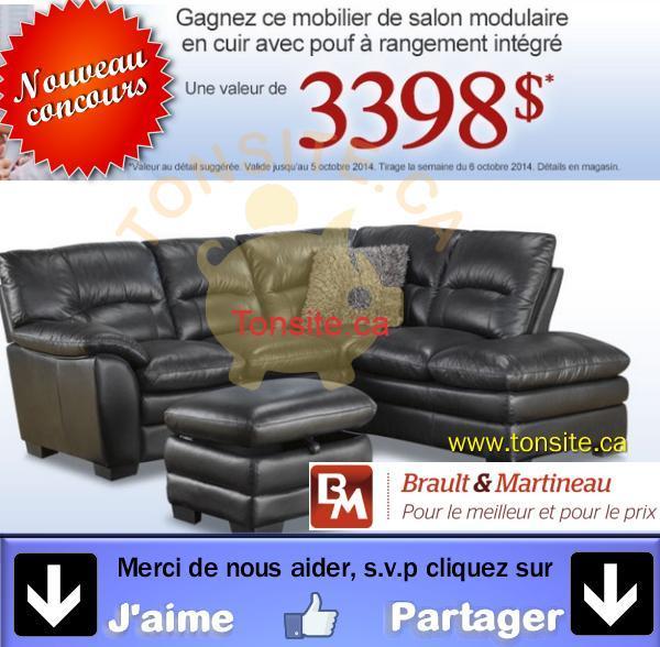 braultmartineau concours jpg - Concours Brault & Martineau: Gagnez un mobilier de salon en cuir avec pouf (valeur de 3398$)