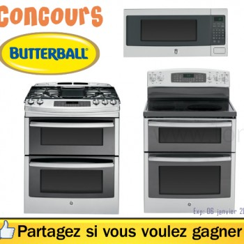 butterball jpg 350x350 - Concours Butterball: Gagnez une cuisinière inoxydable General Electric (valeur 2999,99$)