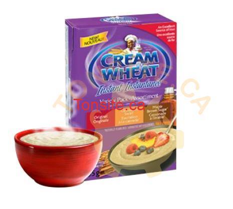 creamofwheat - Coupon rabais de 1$ sur n'importe quelle saveur de céréales chaudes Cream of Wheat