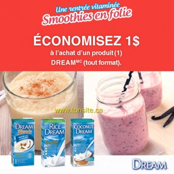 dream coupon 350x350 - Boisson Dream (946ml) à 1$ après coupon!