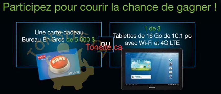 dymo concours - Concours Dymo: Gagnez une carte-cadeau Bureau En Gros de 5000$ ou 1 de 3 tablettes de 16 Go de 10,1 po avec Wi-Fi et 4G LTE