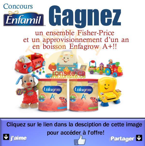 enfamil concours - Concours Enfamil: Gagnez un ensemble Fisher-Price et un approvisionnement d'un an en boisson Enfagrow A+!!