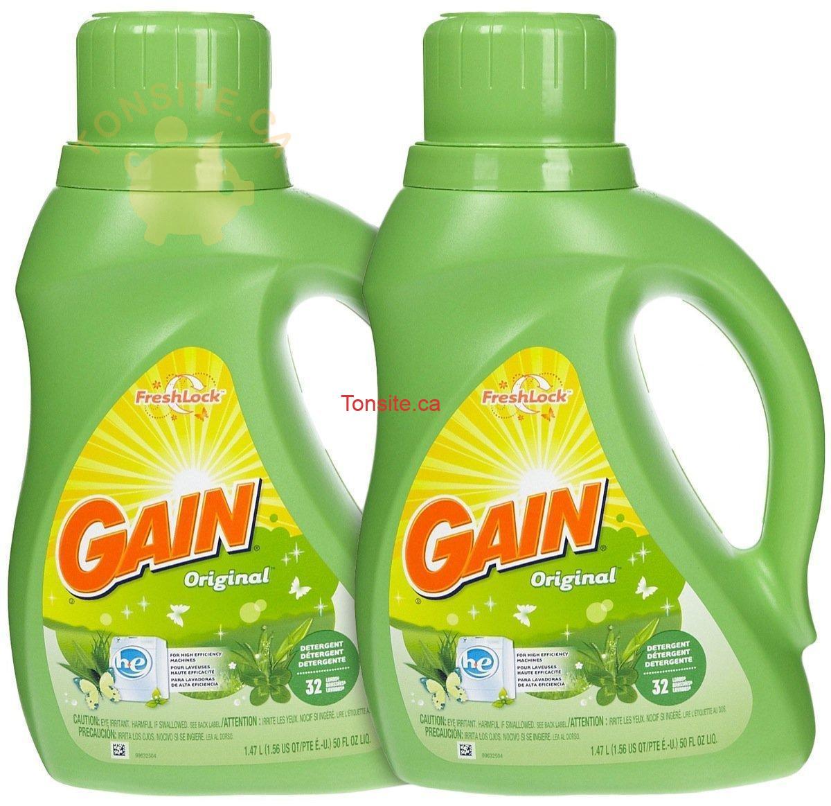 gain32 - Détergent pour la lessive Gain à 1,48$ au lieu de 6,99$