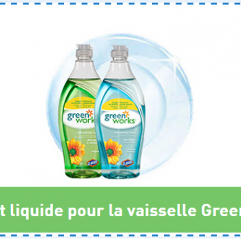 green works 350x350 - Coupon rabais de 1$ sur les nettoyants Green Works.