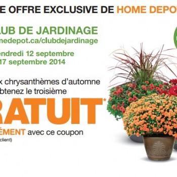 homedepot coupon 350x350 - Coupon Home Depot: Achetez deux chrysanthèmes d'automne au choix et obtenez la troisième gratuit