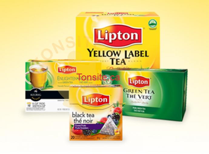 lipton - 3$ en coupons rabais sur les produits Lipton