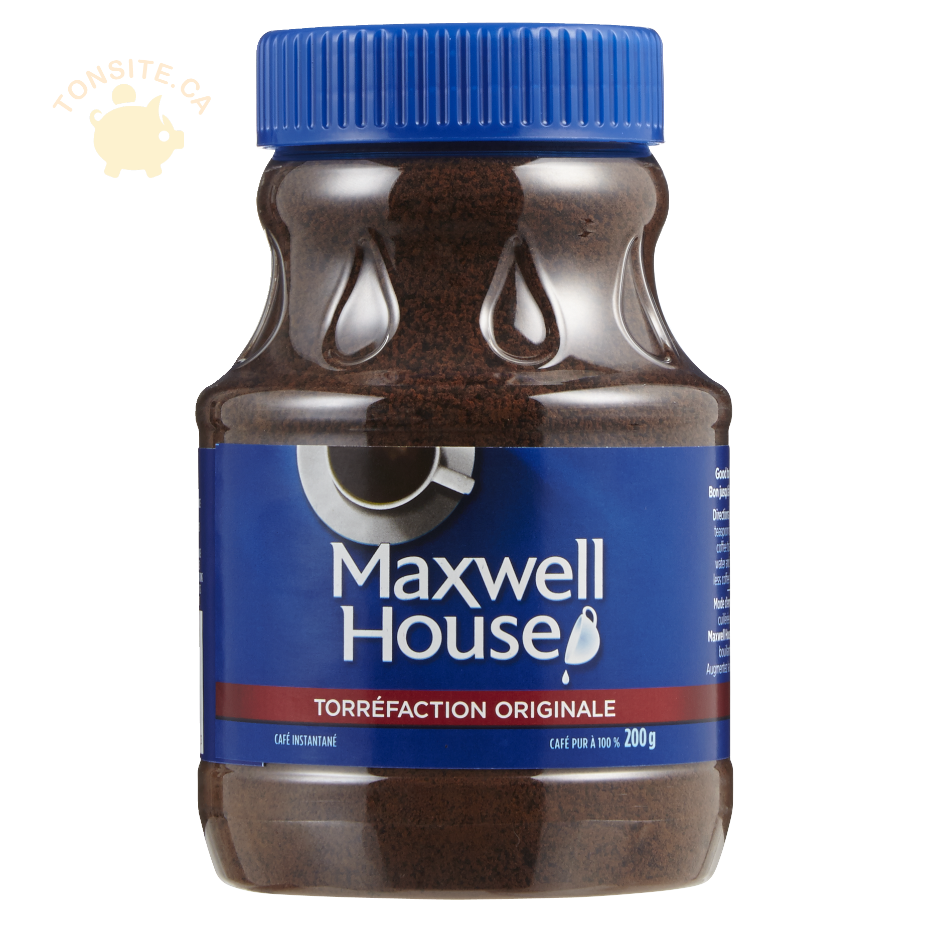 maxwel house - Café instantané Maxwell House à 2,50$ au lieu de 6,47$