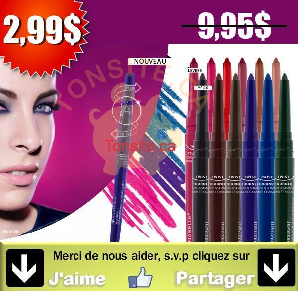 staysharp1 - Crayons yeux ou lèvres hydrofuges auto aiguisables Stay Sharp d'Annabelle à 2,99$ au lieu de 9.95$