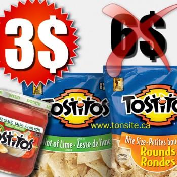 tostitos 3 350x350 - Chips et trempette ou salsa Tostitos à 3$ au lieu de 6$ après coupon