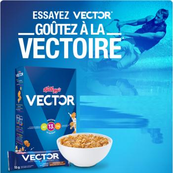 vector 350x350 - Coupon rabais de 1$ sur une boîte de n'importe quelle Substitut de repas Vector (400 g), Barres énergétiques Vector (220 g) ou de Barres Protéines de Vector (200 g), au choix
