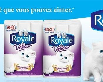 276 fr 350x277 - Coupon rabais de 1$ sur le papier hygiénique Royale Velour.