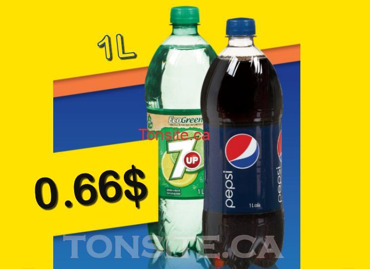 COCA 7UP 66 - Pepsi ou 7UP (1L) à 66¢ (sans coupon)
