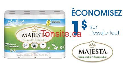 Majesta essuie tout FR - 8 rouleaux d'essuie-tout Majesta à 1.99$ (avec coupon)