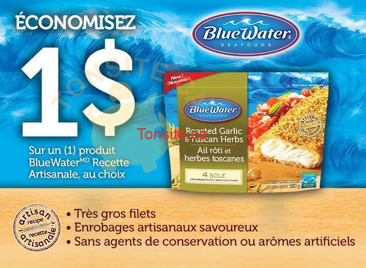 bluewater - Coupon rabais de 1$ sur un produit BlueWater Recette Artisanale, au choix