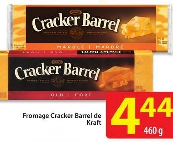 cracker barrel 1 350x292 - Fromage Cracker Barrel de Kraft à 3,44$ (après coupon)