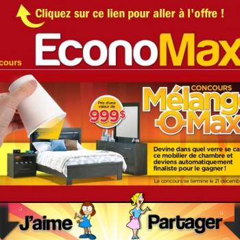 economax concours2 350x350 - Concours EconoMax: Gagnez un mobilier de chambre grand lit (valeur de 999$)