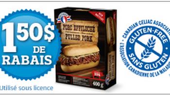 effiloche olymeel 350x197 - Coupon rabais de 1,50$ sur un emballage de porc effiloché Olymel