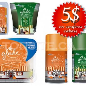 glade 5 350x350 - 5$ en coupons rabais sur les produits Glade