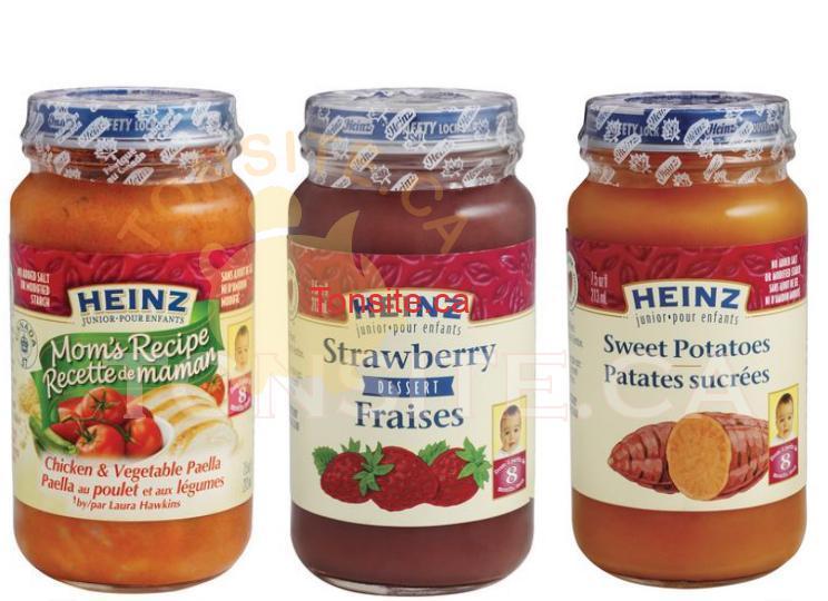 heinz baby - Pots de nourriture pour bébé Heinz (128ml) à 69¢ après coupon